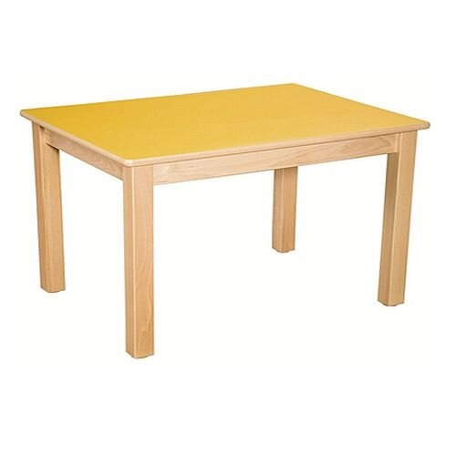 Rectangular Pre School Table Beech Yellow 120x60x52cm High TC05204