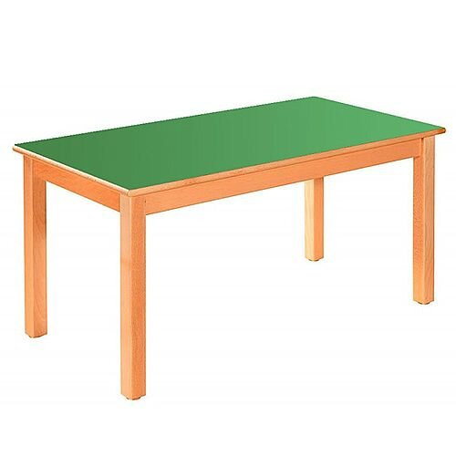 Rectangular Primary School Table Beech Green 120x60cm 59cm High TC05903