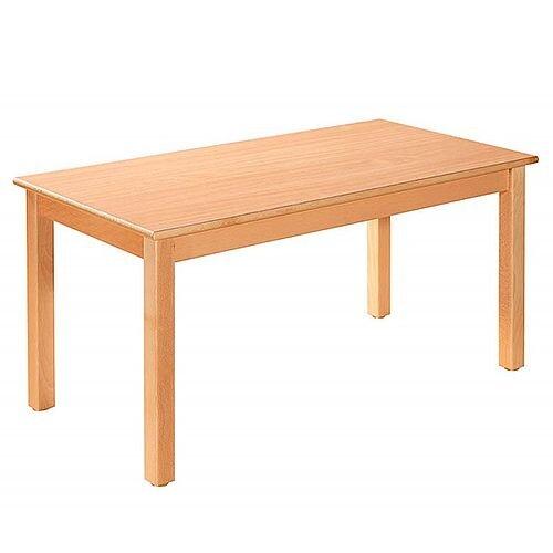 Rectangular Primary School Table Beech Natural 120x60cm 64cm High TC06400