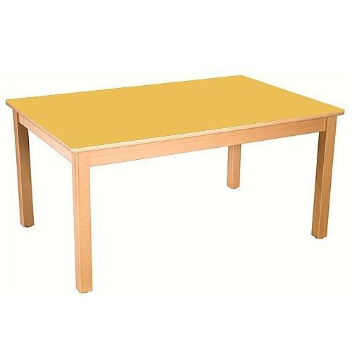 Rectangular Primary School Table Beech Yellow 120x60cm 64cm High TC06404