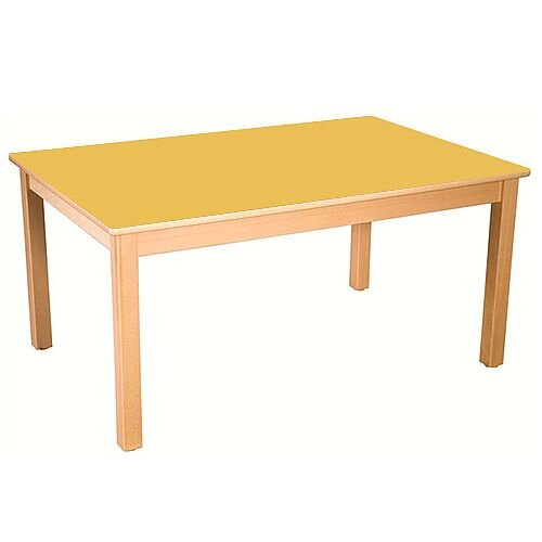 Rectangular Primary School Table Beech Yellow 120x60cm 76cm High TC07604