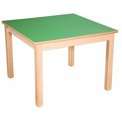 Square Preschool Table Beech Green 800x800mm 40cm High TC34003