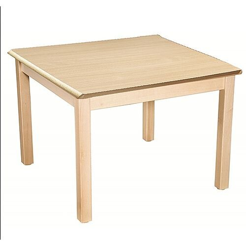 Square Preschool Table Beech Natural 800x800mm 52cm High TC35200