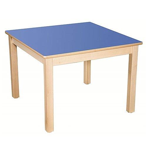 Square Primary School Table Beech Blue 80x80cm 59cm High TC35901
