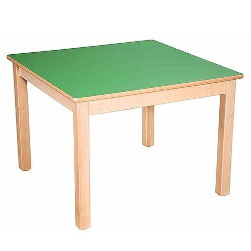 Square Primary School Table Beech Green 80x80cm 64cm High TC36403
