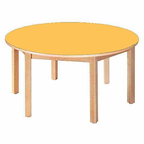 Round Pre-School Table Beech Yellow 120 Diameter 46cm High TC94604