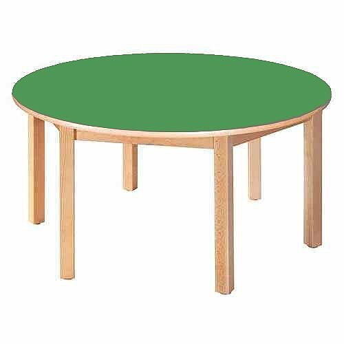 Round Pre-School Table Beech Green 120 Diameter 52cm High TC95203
