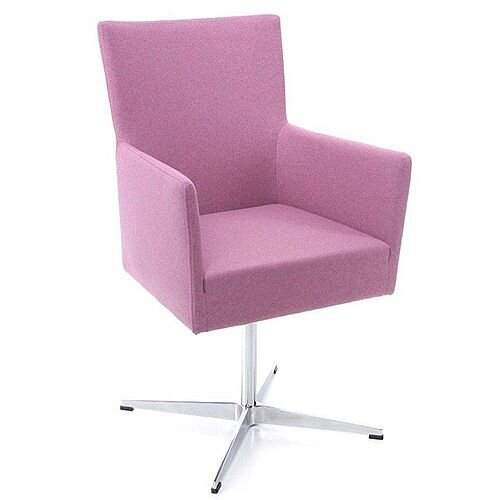 TIME Reception / Conference Room Chair Pink Fabric Star Base
