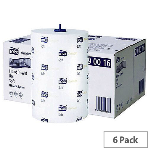 Tork Matic Soft Paper Hand Towels Roll 100m White (6 Rolls) 290016