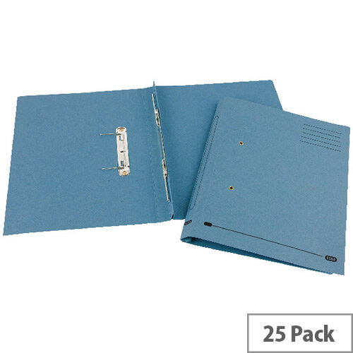 Transfer Spring File Recycled Foolscap Blue 35mm Pack 25 Elba Spirosort