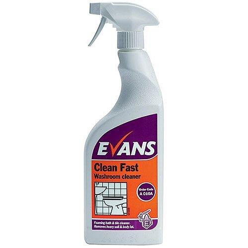 Evans Clean Fast Washroom Cleaner 750ml Pack 6