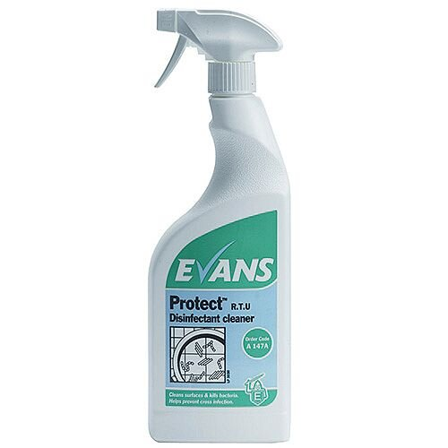 Evans Protect Disinfectant Cleaner 750ml A147AEV Pack 6