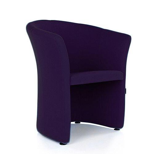 VIZZ Tub Reception Chair Purple Fabric
