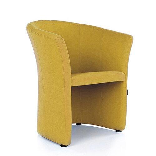 VIZZ Tub Reception Chair Mustard Yellow Fabric