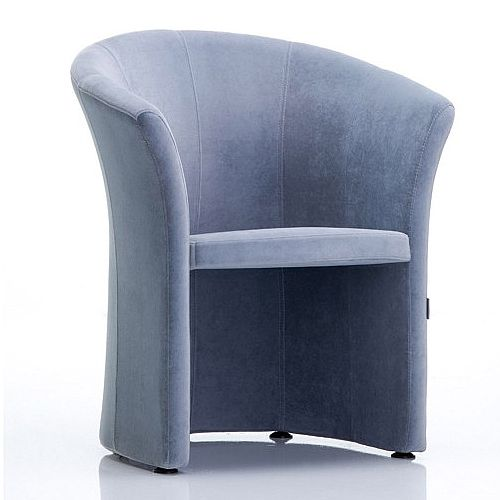 VIZZ Tub Reception Chair Grey Velvet
