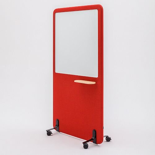 Wall Free Standing Acoustic Screen with Whiteboard
