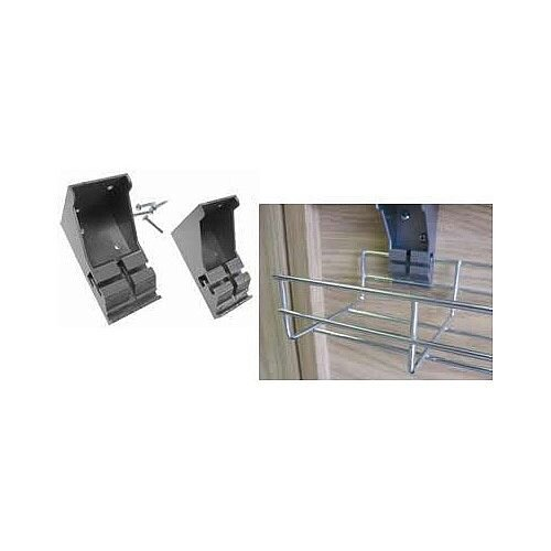 Plastic Wire Cable Management Basket Tray 'L' Brackets WBTLB