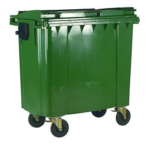 Wheelie Bin 770 Litre 4 Wheels Green 124568
