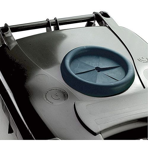Wheelie Bin 120 Litre with Bottle Bank Aperture and Lid Lock Grey 124550