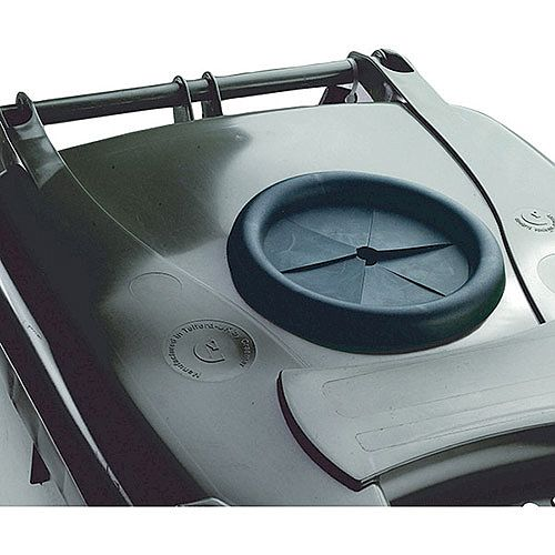 Wheelie Bin 140 Litre with Bottle Bank Aperture and Lid Lock Grey 376847 124555