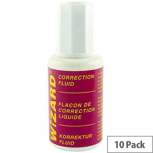 White Box Correction Fluid White [Pack 10]