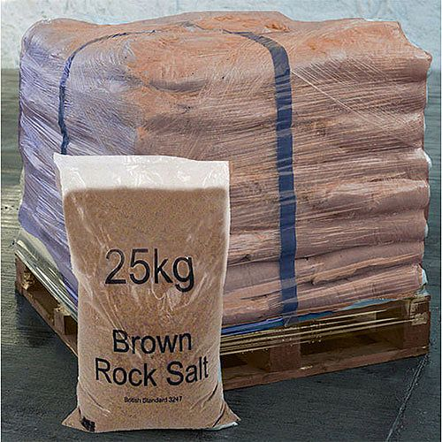 Winter Dry Brown Rock Salt 25Kg Pallet of 40 383578