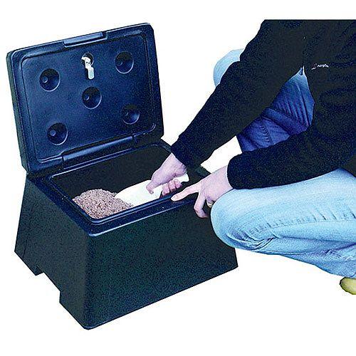 Winter Mini Grit 30 Litre Bin Lockable Scoop Black 383371