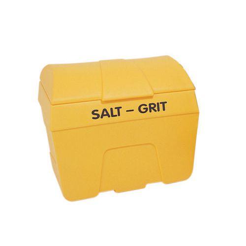 200L Heavy duty Plastic Salt & Grit Bin Without Hopper Feed Yellow