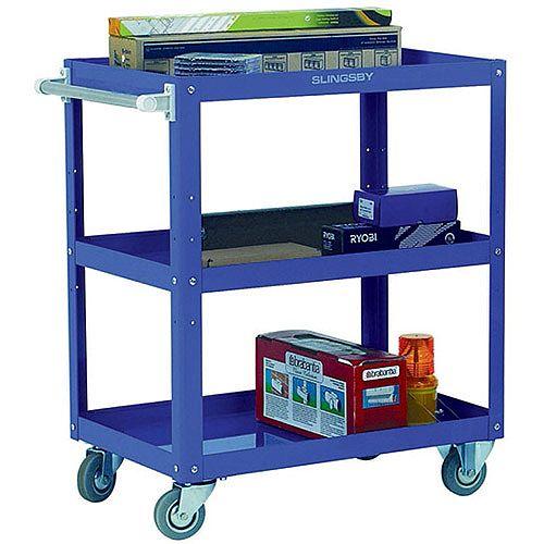 Works 3-Tier Trolley Blue 329946