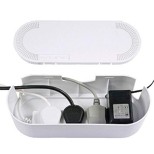 White Small Cable Tidy Unit WSCTU