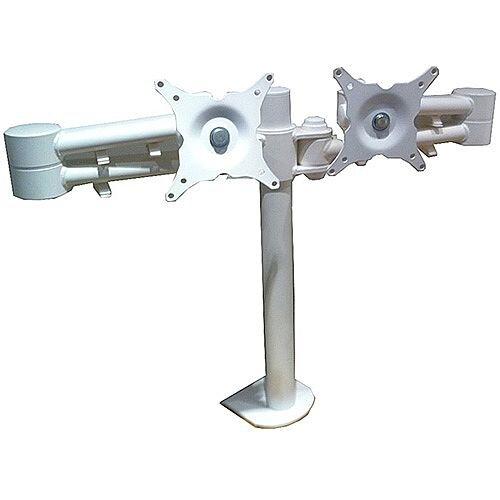 Algar White Twin Screen Monitor Arms WTSMA