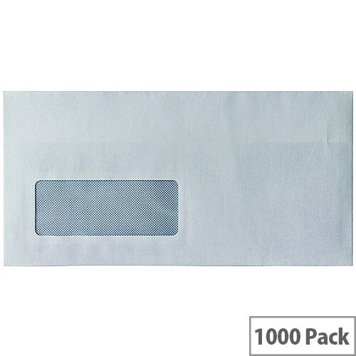 Envelopes DL Window Self Seal White 80gsm Pack 1000