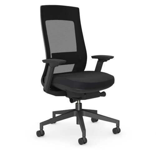 X.22 Posture Office Chair with Unique Mesh Back And Adjustable Lumbar Support Black