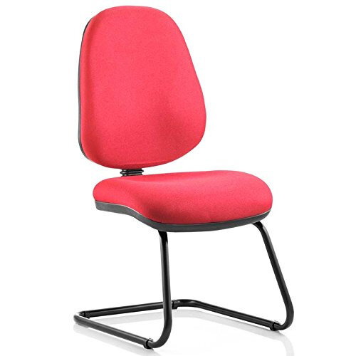 luna cantilever burgundy fabric task operator office chair without arms