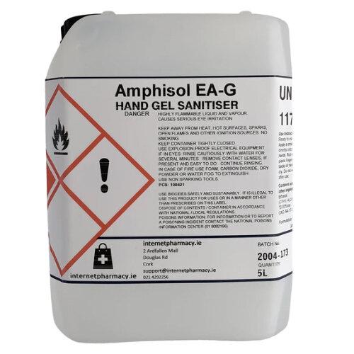 Amphisol - Fully Approved 70% Ethanol Based Hand Sanitiser Gel PCS 100421 5L