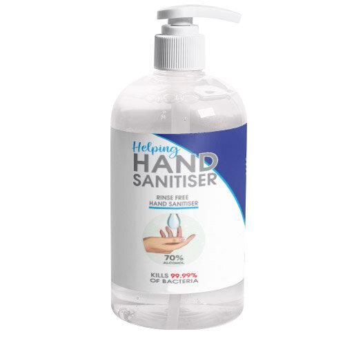 250ml Pump Hand Sanitiser - 70% Alcohol Based Hand Sanitising Liquid Pack of 1