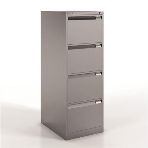 Drawer Steel Filing Cabinet Flush Front Goose Grey Bisley BSE - 4 drawer steel filing cabinet