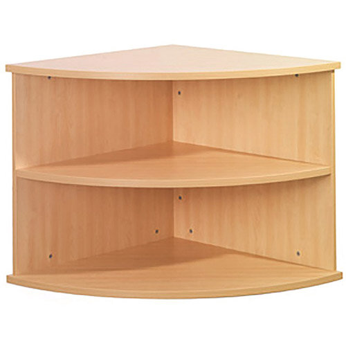 Sonix 800x730mm Corner Unit Bookcase Maple
