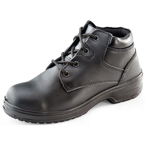e66ffe7c056 Click Footwear Ladies Chukka Boots PU/Leather Size 6 (39) Black ...