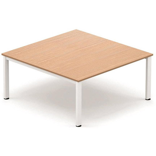 Sonix Xmm Square Meeting Table Beech With A White Frame - Square meeting table