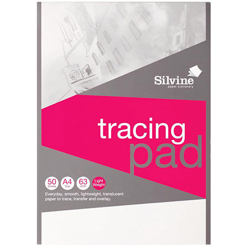 50 Sheet Pads A2 A3 Goldline 63gsm Tracing Paper Pads A4
