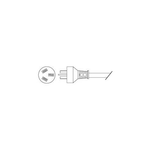 Cisco - Power cable - IEC 60320 C13 to SAA AS 3112 (M) - 2 5 m - Australia,  New Zealand - for IP Phone 7902, 7905, 7910, 7920, 7935, 7940, 7960, 7961,