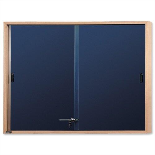 Nobo Display Cabinet Noticeboard 1000x825mm Slimline