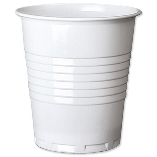 White Plastic Disposable Cold Drink Cups