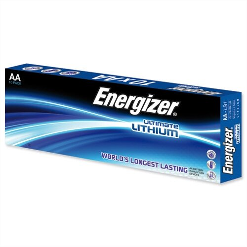 energizer ultimate aa lithium battery lr06 pack 10. Black Bedroom Furniture Sets. Home Design Ideas
