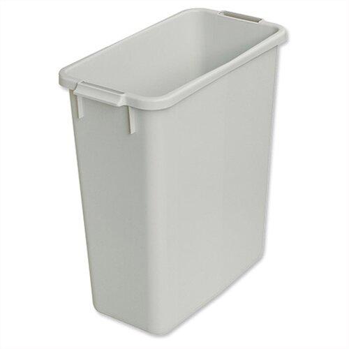 Smead slim bin 60 litres grey s10496050 - Slimline waste bin ...
