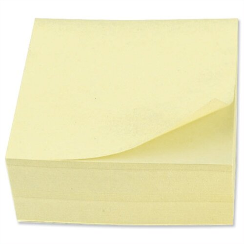 Sticky Notes Cube Pad of 400 Sheets 76x76mm Yellow 5 Star