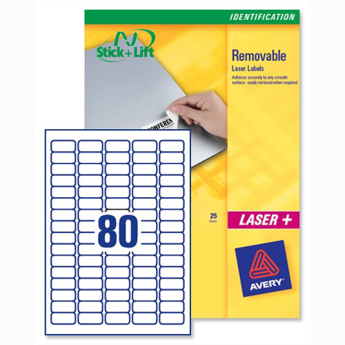 avery mini laser labels removable 80 per sheet
