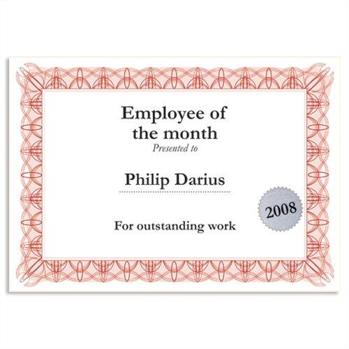 red certificate paper