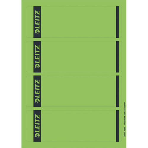 picture regarding Printable Labels Sheets referred to as Leitz Laptop Printable Backbone Labels for Common Lever Arch Information Laser Limited Large Eco-friendly 25 A4 Sheets - 4 Labels for every Sheet 100 Labels